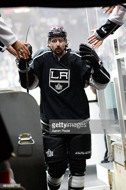 Jamie McBain of the Los Angeles Kings greets fans before a game against the Ottawa Senators at STAPLES Center on February 26 2015 in Los Angeles...