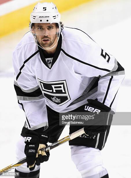 Jamie McBain of the Los Angeles Kings plays the game against the Florida Panthers at BBT Center on November 23 2015 in Sunrise Florida