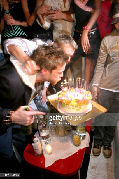 Jamie McCarthy and Kutty Kass during Carmen Kass Hosts Kutty Kass' and Jamie McCarthy's 30th Birthday Party at Social Club in New York City New York...