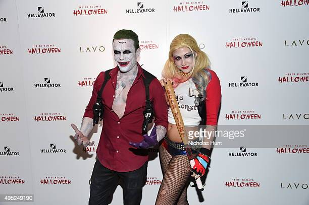 Jamie McCarthy and Megan Thompson attend the Heidi Klum's 16th Annual Halloween Party sponsored by GSN's Hellevator And SVEDKA Vodka At LAVO New York...