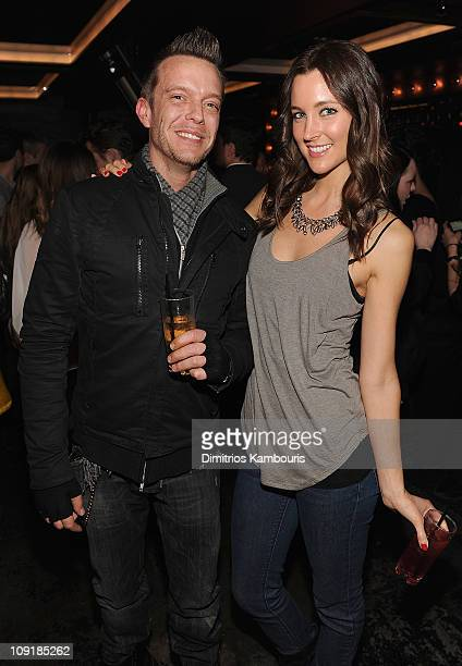 Jamie McCarthy and Caroline Oberst attend Maxim's March Issue party at SL on February 15 2011 in New York City