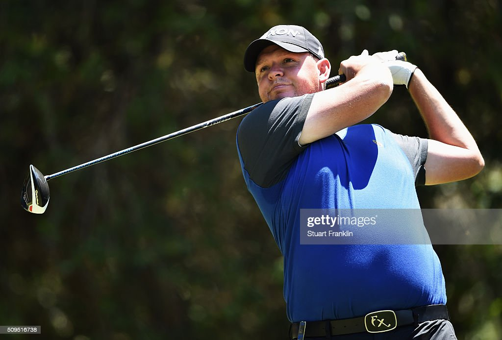 Jamie McLeary of Scotland plays a shot during the first round of the Tshwane Open at Pretoria Country Club on February 11, 2016 in Pretoria, South Africa.
