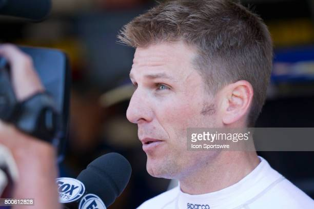 Jamie McMurray chats with the media before the Toyota/Save Mart 350 practice on June 23 2017 at Sonoma Raceway in Sonoma CA