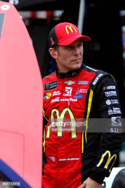 Jamie McMurray Chip Ganassi Racing McDonalds/Cessna Chevrolet SS during practice for the Bass Pro Shop NRA 500 at Bristol Motor Speedway on August 18...