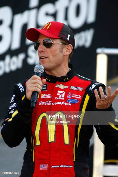 Jamie McMurray Chip Ganassi Racing McDonalds/Cessna Chevrolet SS during the running of the 57th annual Bass Pro Shops NRA Night Race 500 on August...