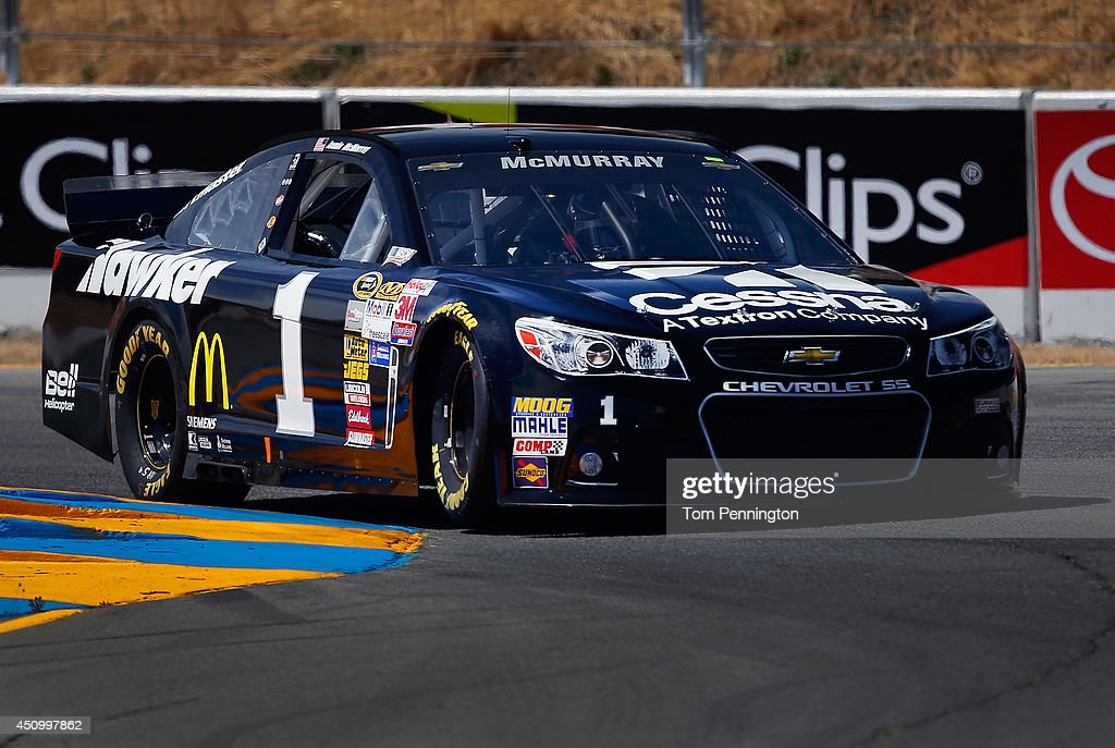 <a gi-track='captionPersonalityLinkClicked' href=/galleries/search?phrase=Jamie+McMurray&family=editorial&specificpeople=198964 ng-click='$event.stopPropagation()'>Jamie McMurray</a>, driver of the #1 Cessna Chevrolet, drives during qualifying for the NASCAR Sprint Cup Series Toyota/Save Mart 350 at Sonoma Raceway on June 21, 2014 in Sonoma, California.