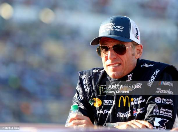 Jamie McMurray driver of the Cessna Chevrolet looks on before the Monster Energy NASCAR Cup Series Quaker State 400 presented by Advance Auto Parts...