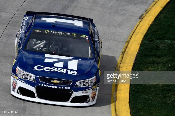 Jamie McMurray driver of the Cessna Chevrolet practices for the Monster Energy NASCAR Cup Series STP 500 at Martinsville Speedway on March 31 2017 in...