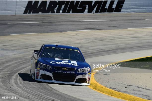Jamie McMurray driver of the Cessna Chevrolet practices for the Monster Energy NASCAR Cup Series STP 500 at Martinsville Speedway on April 1 2017 in...