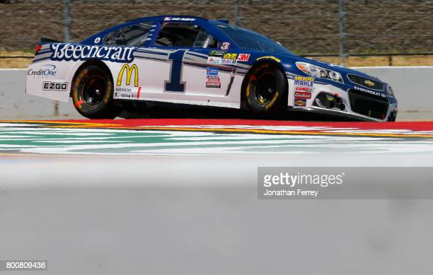 Jamie McMurray driver of the Cessna Chevrolet races during the Monster Energy NASCAR Cup Series Toyota/Save Mart 350 at Sonoma Raceway on June 25...