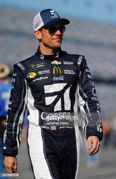 Jamie McMurray driver of the Cessna McDonald's Chevrolet during qualifying for the Monster Energy NASCAR Cup Series 59th Annual DAYTONA 500 at...