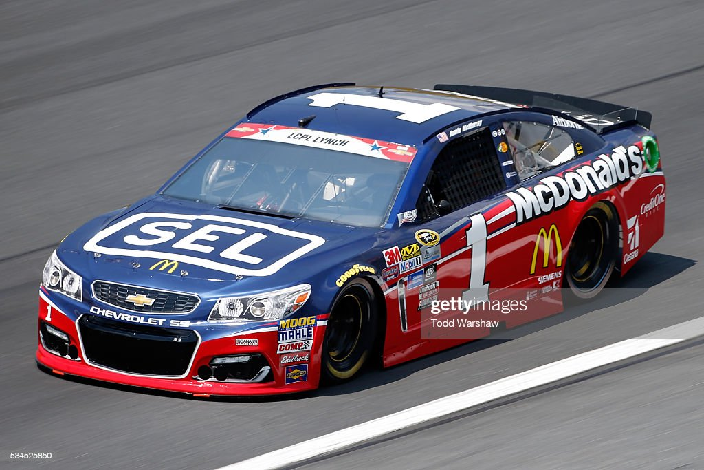 <a gi-track='captionPersonalityLinkClicked' href=/galleries/search?phrase=Jamie+McMurray&family=editorial&specificpeople=198964 ng-click='$event.stopPropagation()'>Jamie McMurray</a>, driver of the #1 Cessna/McDonald's Chevrolet, practices for the NASCAR Sprint Cup Series Coca-Cola 600 at Charlotte Motor Speedway on May 27, 2016 in Charlotte, North Carolina.