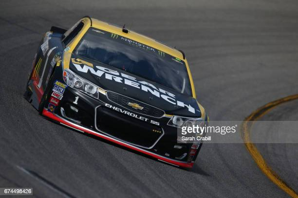Jamie McMurray driver of the GearWrench Chevrolet practices for the Monster Energy NASCAR Cup Series Toyota Owners 400 at Richmond International...