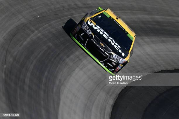 Jamie McMurray driver of the GearWrench Chevrolet practices for the Monster Energy NASCAR Cup Series Apache Warrior 400 presented by Lucas Oil at...