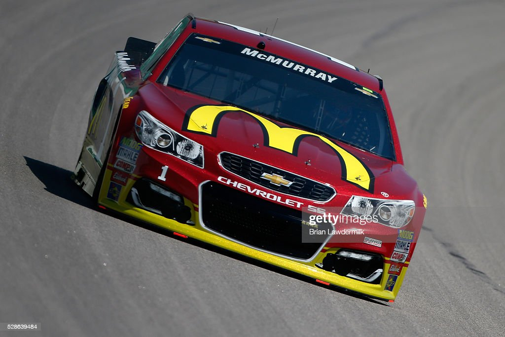 Jamie McMurray, driver of the #1 McDonald's Chevrolet, drives during practice for the NASCAR Sprint Cup Series Go Bowling 400 at Kansas Speedway on May 6, 2016 in Kansas City, Kansas.
