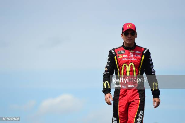Jamie McMurray driver of the McDonald's Chevrolet is introduced prior to the Monster Energy NASCAR Cup Series I Love NY 355 at The Glen at Watkins...