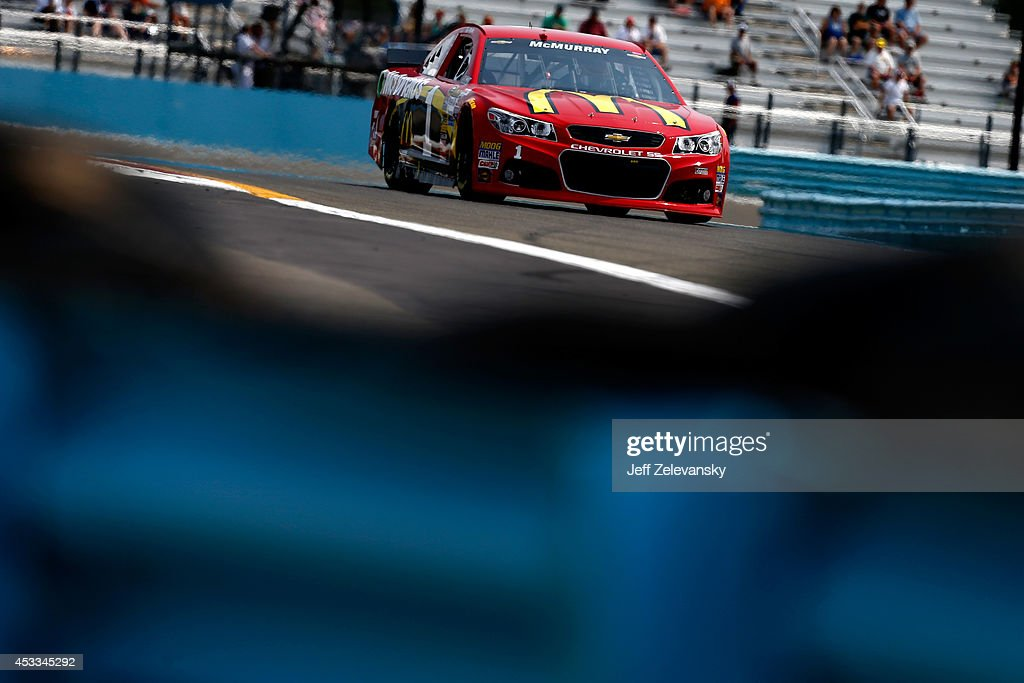 Jamie McMurray, driver of the #1 McDonald's Chevrolet, practices for the NASCAR Sprint Cup Series Cheez-It 355 at Watkins Glen International on August 8, 2014 in Watkins Glen, New York.