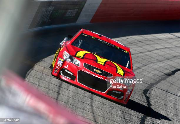 Jamie McMurray driver of the McDonald's Chevrolet practices for the Monster Energy NASCAR Cup Series Folds of Honor QuickTrip 500 at Atlanta Motor...