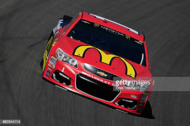 Jamie McMurray driver of the McDonald's Chevrolet practices for the Monster Energy NASCAR Cup Series Go Bowling 400 at Kansas Speedway on May 12 2017...