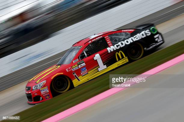 Jamie McMurray driver of the McDonald's Chevrolet practices for the Monster Energy NASCAR Cup Series First Data 500 at Martinsville Speedway on...
