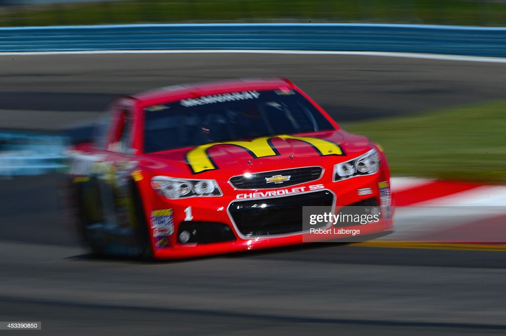 Jamie McMurray, driver of the #1 McDonald's Chevrolet, qualifies for the NASCAR Sprint Cup Series Cheez-It 355 at Watkins Glen International on August 9, 2014 in Watkins Glen, New York.