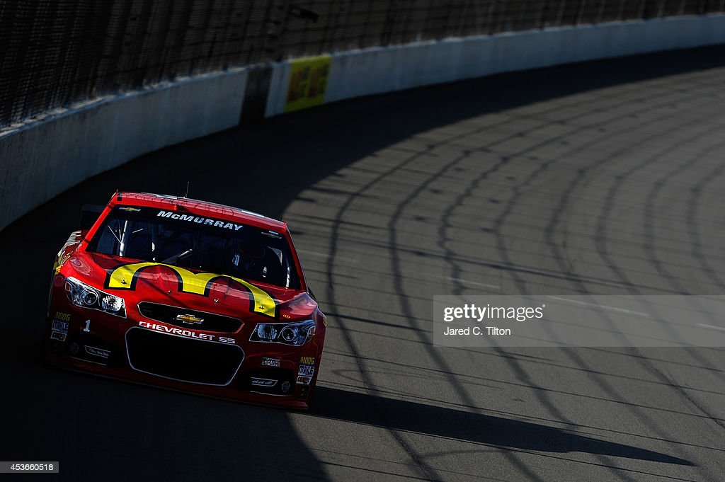 Jamie McMurray, driver of the #1 McDonald's Chevrolet, qualifies for the NASCAR Sprint Cup Series Pure Michigan 400 at Michigan International Speedway on August 15, 2014 in Brooklyn, Michigan.