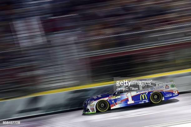 Jamie McMurray driver of the SherwinWilliams Chevrolet qualifies for the Monster Energy NASCAR Cup Series Bank of America 500 at Charlotte Motor...
