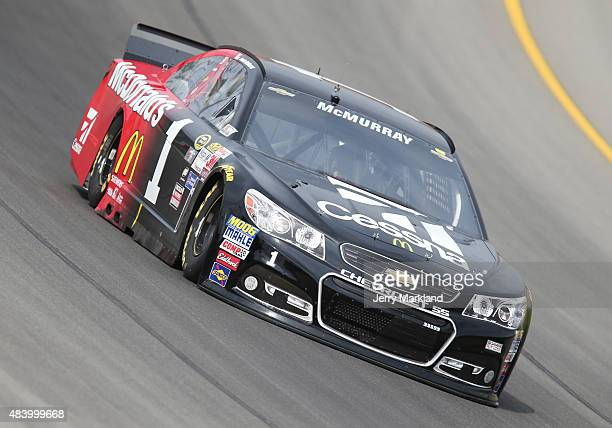 Jamie McMurray drives the Cessna/McDonald's Chevrolet during practice for the NASCAR Sprint Cup Series Pure Michigan 400 at Michigan International...