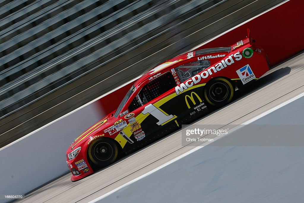 Jamie McMurray drives the #1 McDonald's Chevrolet during practice for the NASCAR Sprint Cup Series Bojangles' Southern 500 at Darlington Raceway on May 10, 2013 in Darlington, South Carolina.