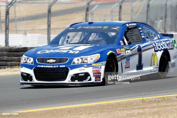 Jamie McMurray in the Cessna Chevrolet rolls out of Turn 10 during Toyota/Save Mart 350 qualifying on June 24 2017 at Sonoma Raceway in Sonoma CA