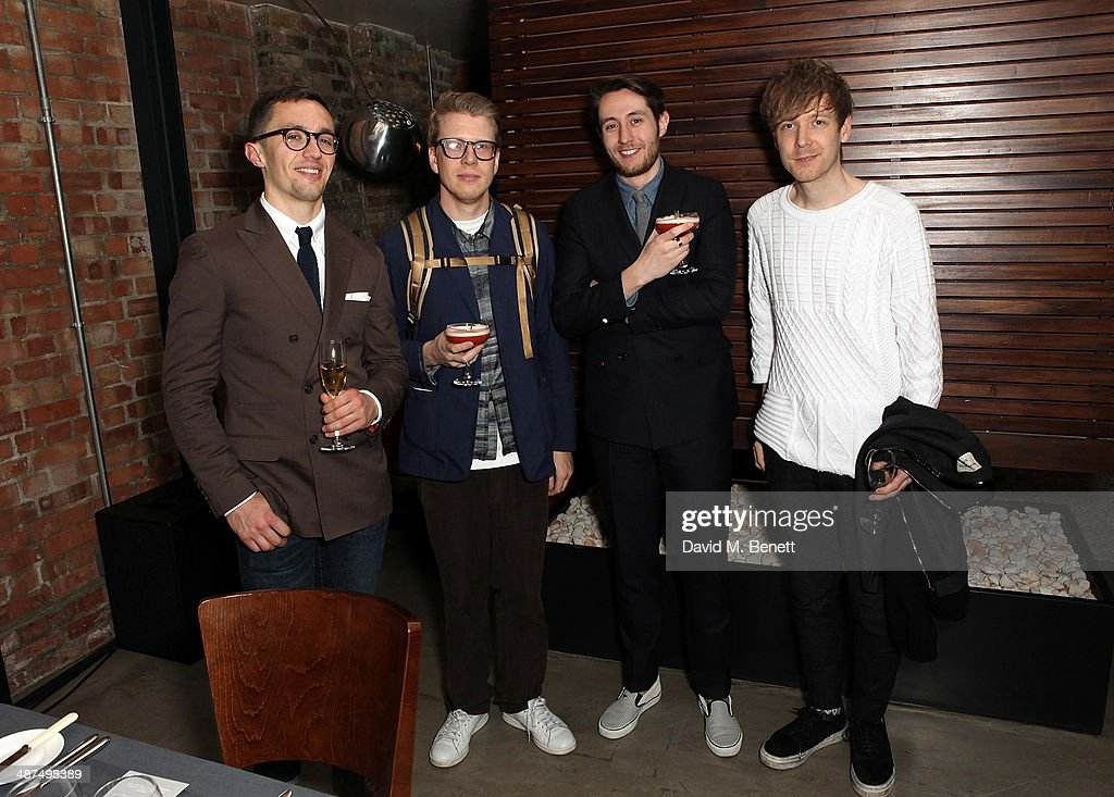 Jamie Millar David Hellqvist Nick Carvell and Steve Salter attend the Whistles menswear launch dinner on April 30 2014 in London England