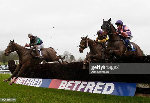 Jamie Moore riding Mountainous on their way to winningThe Coral Welsh Grand National at Chepstow racecourse on January 09 2016 in Chepstow Wales