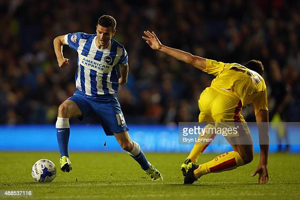 Jamie Murphy of Brighton Hove Albion in action during the Sky Bet Championship match between Brighton Hove Albion and Rotherham United at Amex...