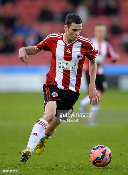Jamie Murphy of Sheffield United during the FA Cup Second Round match between Sheffield United and Plymouth Argyle at Bramall Lane on December 6 2014...