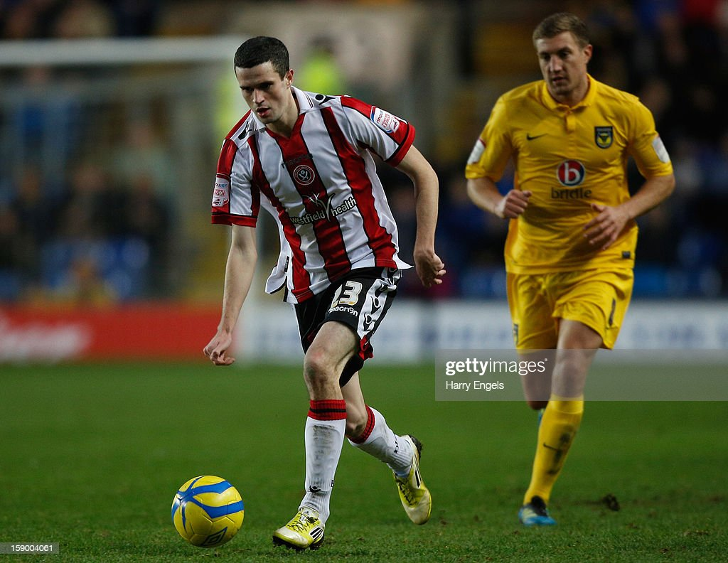 Jamie Murphy of Sheffield United runs with the ball during the FA Cup Third Round match between Oxford United and Sheffield United at the Kassam Stadium on January 5, 2013 in Oxford, England.