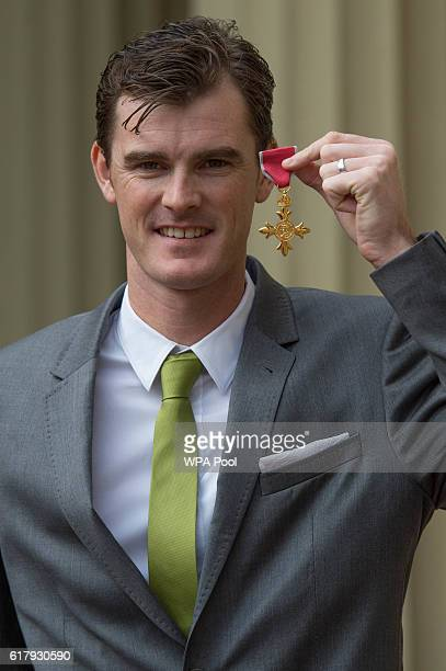 Jamie Murray after receiving his Officer of the Order of the British Empire for services to his sport and charity at Buckingham Palace on October 25...