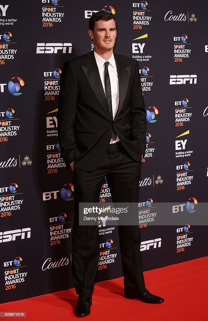 Jamie Murray arrives for the BT Sport Industry Awards at Battersea Evolution on April 28, 2016 in London, England.