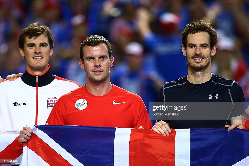 Great Britain v Japan - Davis Cup: Day Three