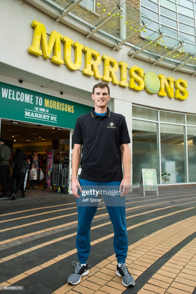 Jamie Murray visits Morrisons, which has been renamed 'Murrisons' in honour of the tennis playing family, on June 28, 2017 in Wimbledon, England.