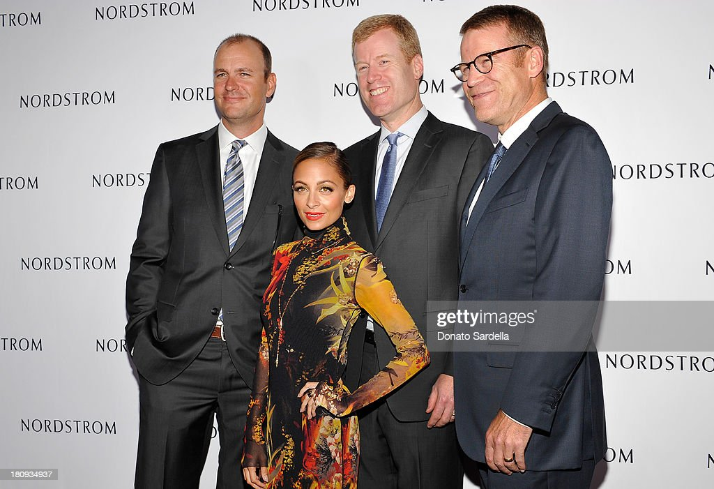 Jamie Nordstrom, <a gi-track='captionPersonalityLinkClicked' href=/galleries/search?phrase=Nicole+Richie&family=editorial&specificpeople=201646 ng-click='$event.stopPropagation()'>Nicole Richie</a>, Erik Nordstrom and Blake Nordstrom attend Nordstrom store opening gala at The Americana at Brand on September 17, 2013 in Glendale, California.