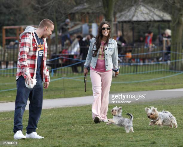 COVERAGE*** Jamie O'Hara and Danielle Lloyd Seen taking their new dog for a walk in Regents Park on March 17 2010 in London England