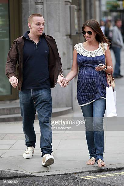 Jamie O'Hara and Danielle Lloyd sighted leaving The Portland Hospital after a pregnancy checkup on April 6 2010 in London England
