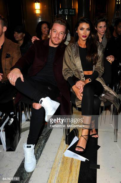 Jamie O'Hara and ElizabethJayne Tierney attend the House Of Mea show during the London Fashion Week February 2017 collections on February 19 2017 in...