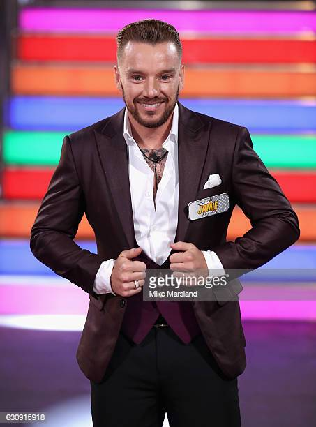 Jamie O'Hara enters the Celebrity Big Brother House at Elstree Studios on January 3 2017 in Borehamwood England