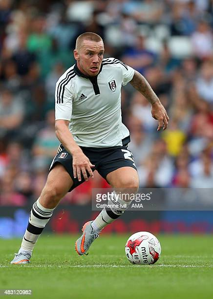 Jamie O'Hara of Fulham during the preseason friendly between Fulham and Watford at Craven Cottage on August 1 2015 in London England