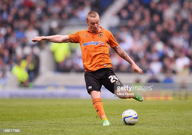 Jamie O'Hara of Wolverhampton Wanderers in action during the npower Championship match between Brighton Hove Albion and Wolverhampton Wanderers at...