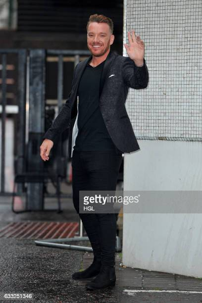 Jamie O'Hara seen at the ITV Studios after appearing on the Lorraine show on February 1 2017 in London England
