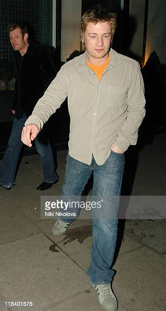 Jamie Oliver and Jason Flemyng during Jamie Oliver Sighting in London January 24 2006 in London Great Britain
