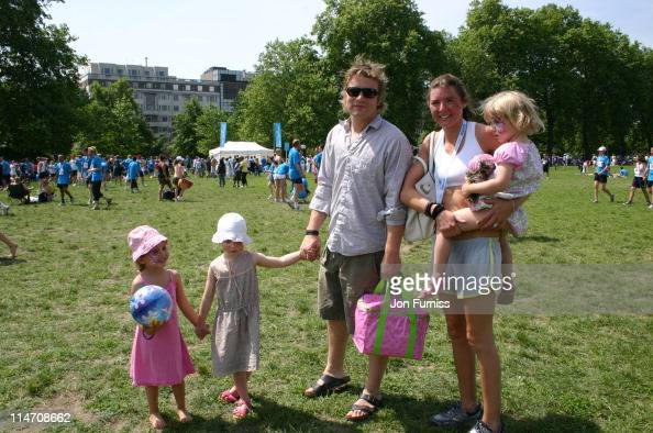 Jamie Oliver and Jools Oliver with their Children Poppy and Daisy
