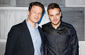 Jamie Oliver and Liam Payne arrive at a party hosted by Instagram's Kevin Systrom and Jamie Oliver This is their second annual private party taking...